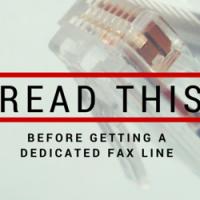 dedicated fax line