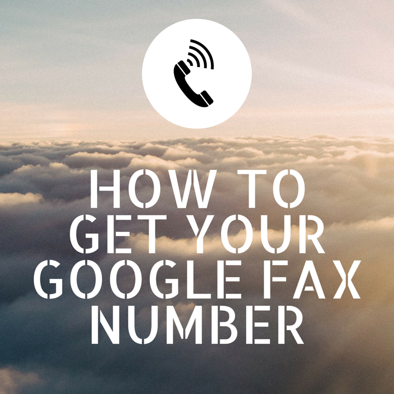 google fax number