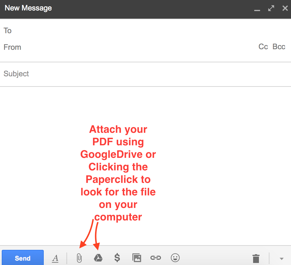 Screenshot Gmail Compose Email