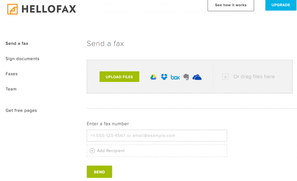 hellofax screenshot